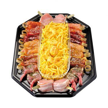 Teppanyaki Platte mit Nudeln