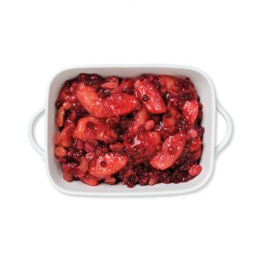 Apfelchutney mit roten Früchten