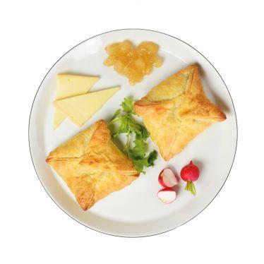 Blätterteigpastete mit Herve-Käse und Lütticher Sirup