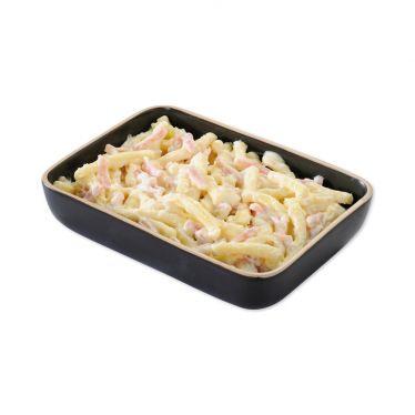 Macaroni met hesp en kaas