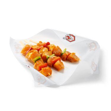 Brochette de filet de poulet marinée